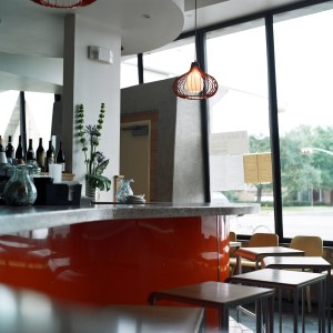 visit our inside bar for happy hour and enjoy our extensive bourbon and wine lists