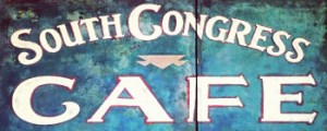 South Congress Cafe Front Door Logo Art home page return button