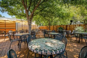 Visit our shaded patio bar and enjoy the music and drinks