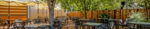 Enjoy our popular tree covered patio bar