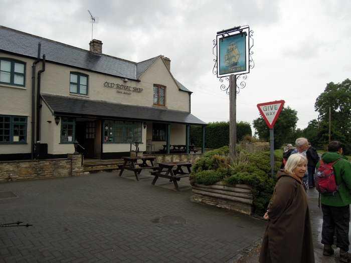Passing the pub!
