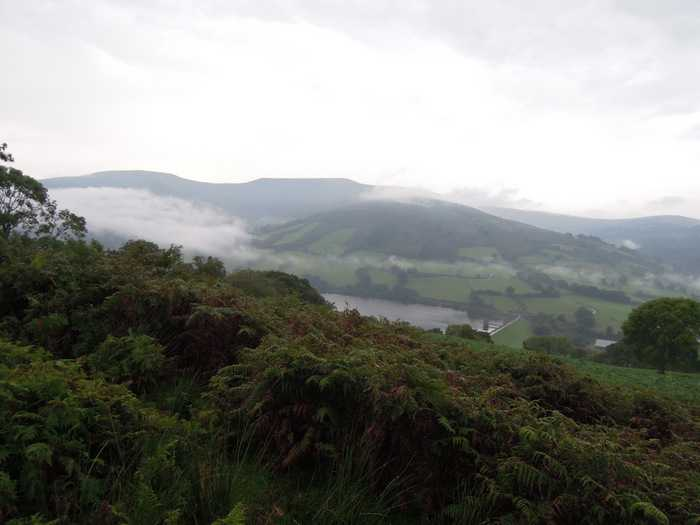 An hour passes and we have endured a violent thunderstorm as we near the Talybont reservoir.