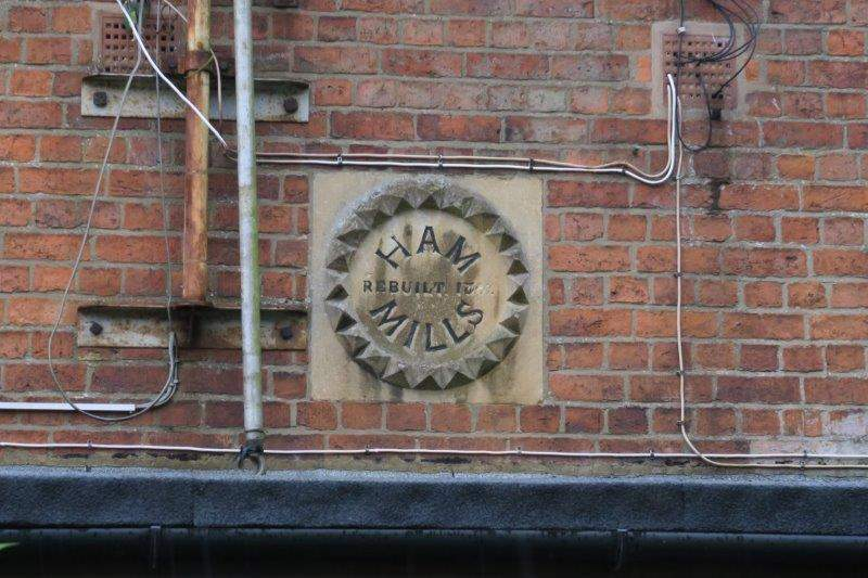 We pass Ham Mills - rebuilt 1807
