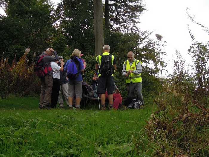 Arriving near Uley Bury where we regroup