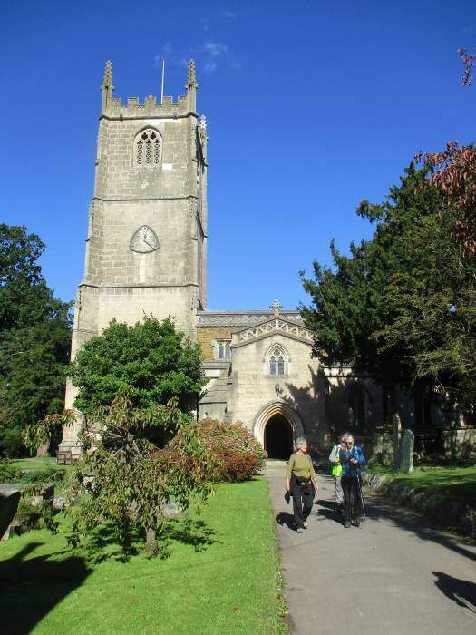 And go through the churchyard at Cam to return to our start