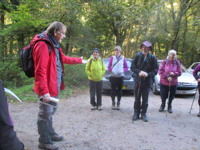 Patrick tells us about the walk he and Angela are taking us on
