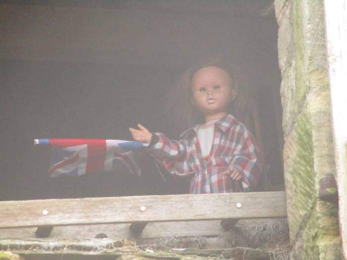 The doll in the barn below Haresfield Beacon on the Cotswold Way presumably voted for Brexit - do dolls get a vote??