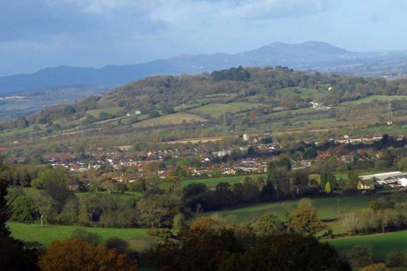 And looking across to the distant Malverns