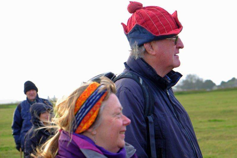 More colourful hats - it's Brian's birthday