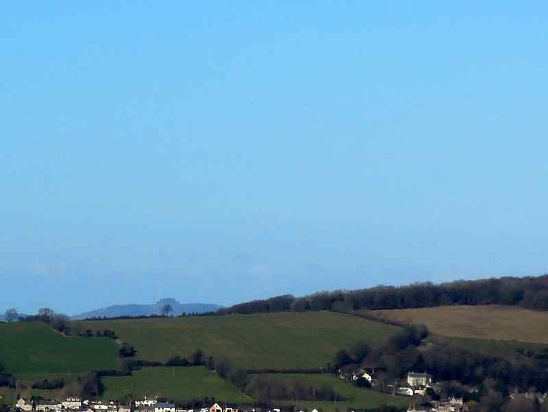 The lone Randwick Ash (on the Cotswold Way) is seen against the silhouette of May Hill