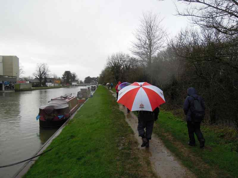 Mike's brolly is excellent for use as a backmarker