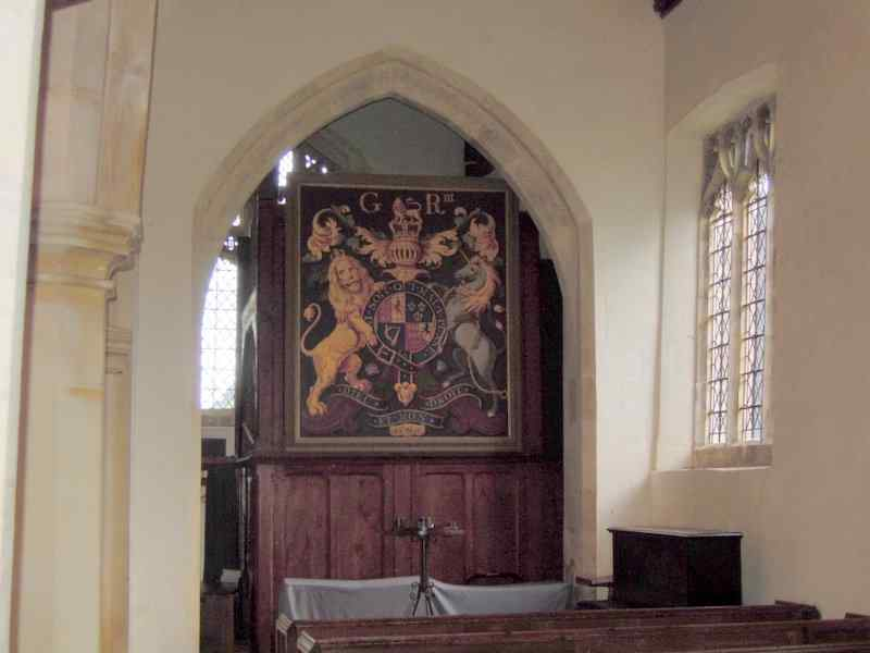 In the old church - George III's coat of arms