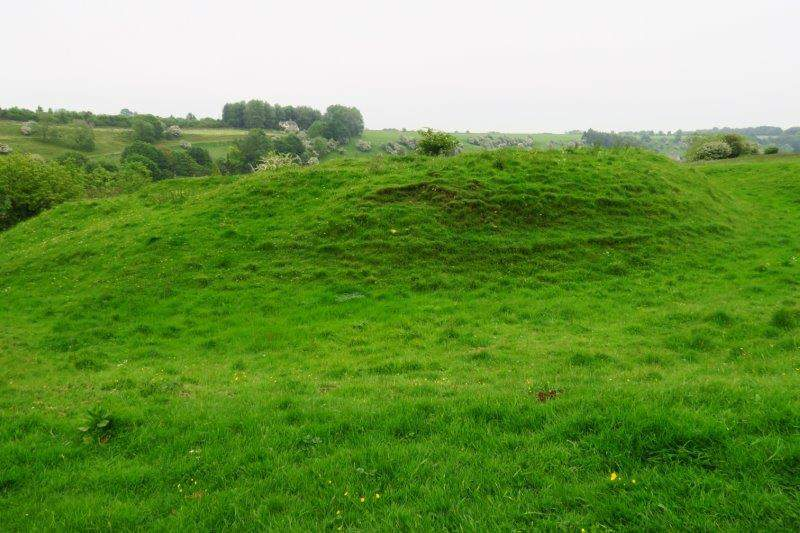 A motte and bailey