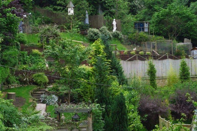 A decorative garden