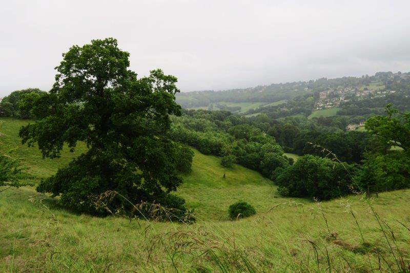 Round the side of Nailsworth Valley