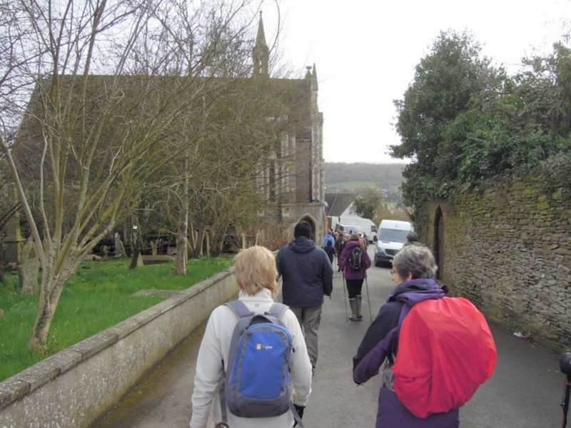 We set off down hill past the old Tabernacle