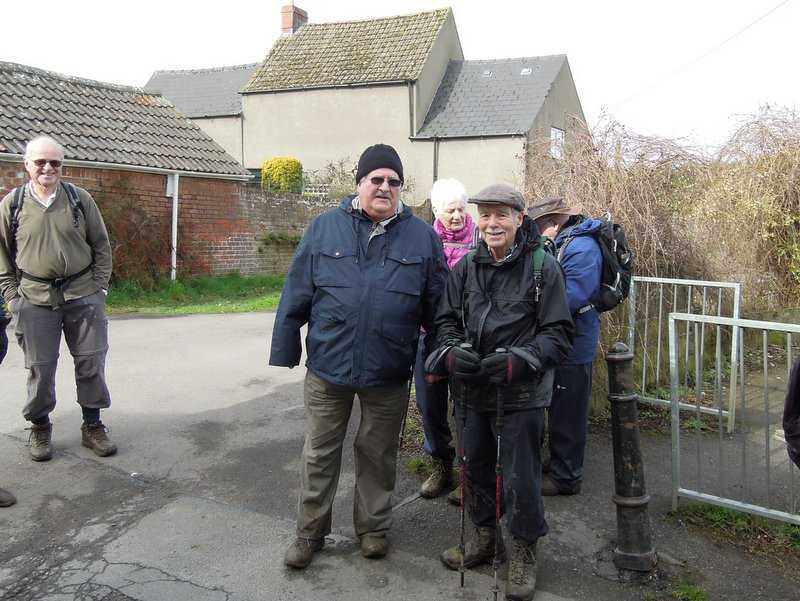 Good to see John out walking, here posing on left with Bernard.