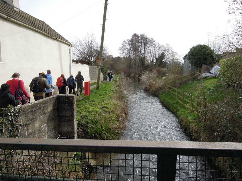 Crossing the Kingswood stream, a tributary of the Little Avon River