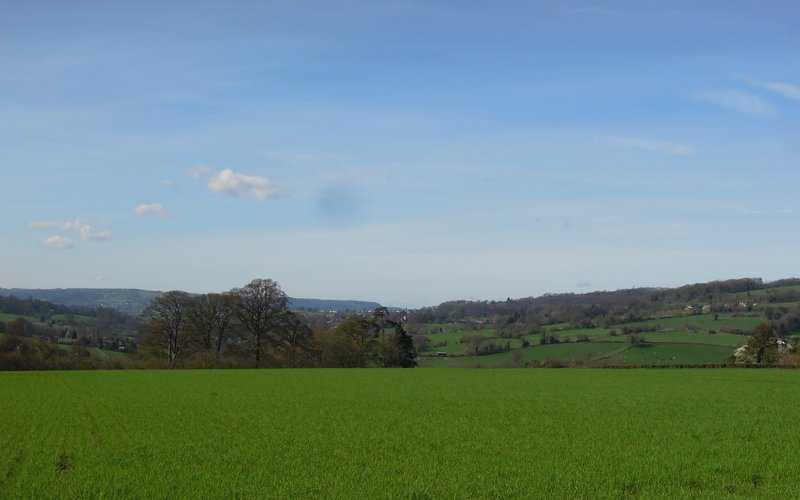 A great morning for views - here southwards
