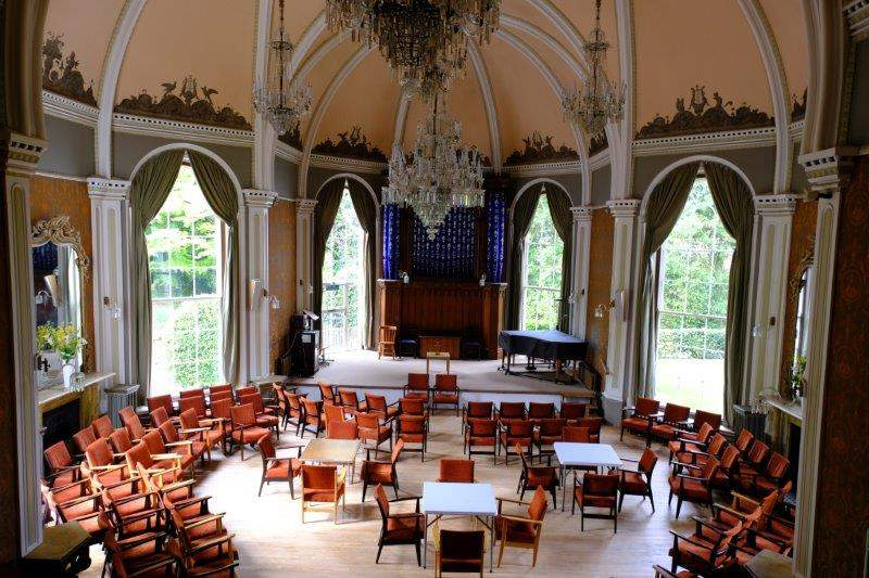 The music room/church at the hotel