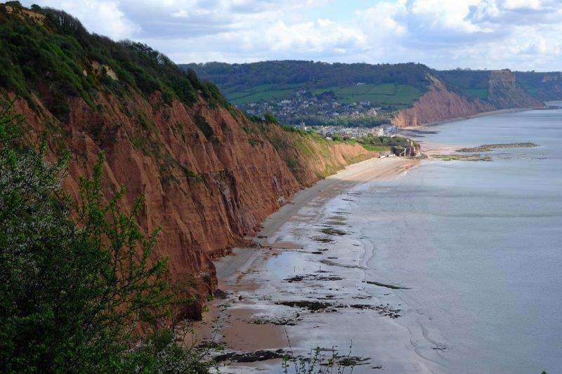 And then back to Sidmouth as we join the South West Coast Path