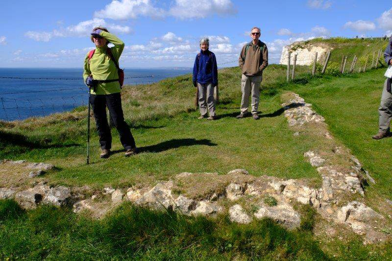 Standing in the remains of a Roman settlement