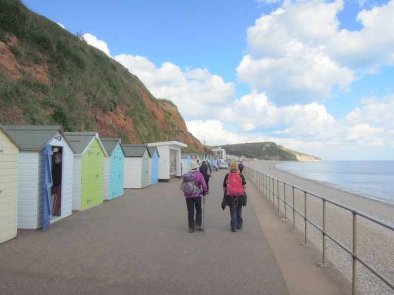 Down to the beach huts and on to the centre to catch the bus back