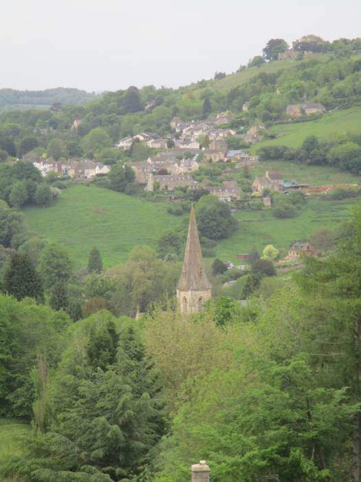 Looking down to Woodchester