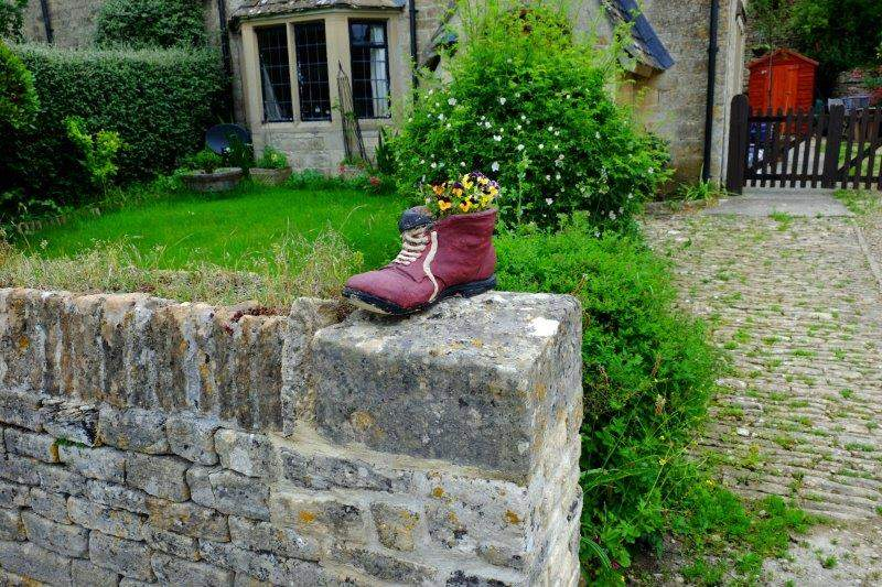 Into Westonbirt village - anyone missing a boot?
