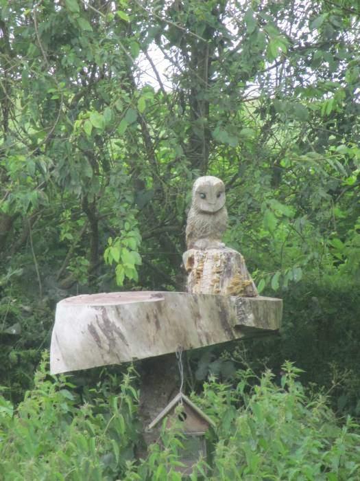 A wooden owl