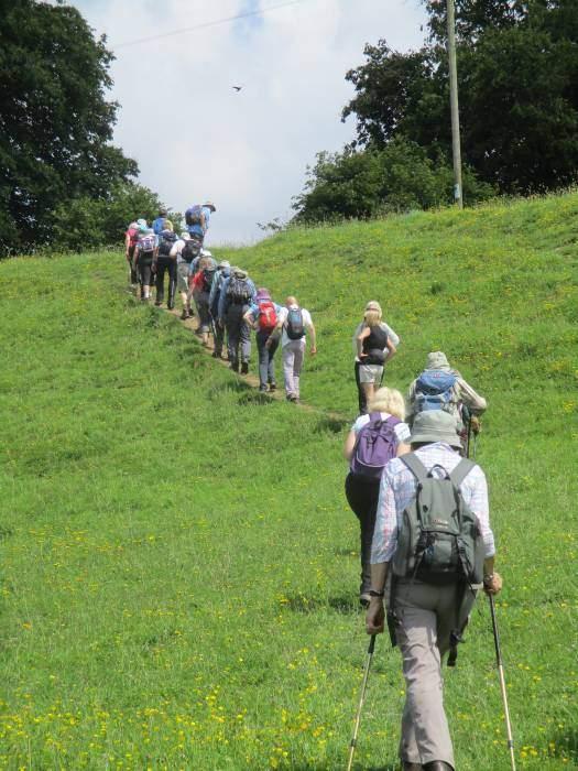 Single file uphill