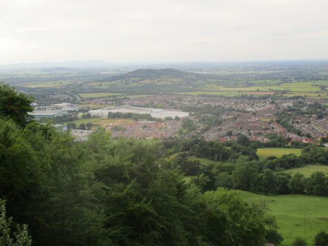 From the top of Coopers Hill, amazing views over Brockworth