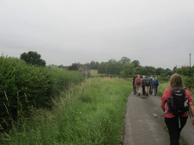 We arrive in the village of Hill, the old school and telephone box in the distance