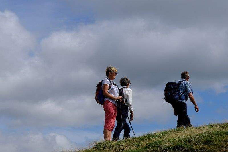 Reaching the top of Worcestershire Beacon