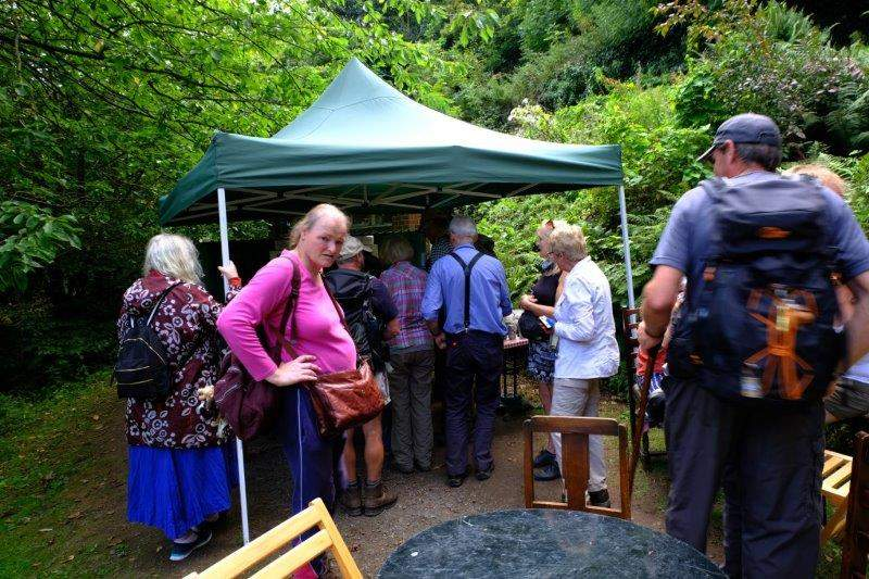 But branching off at St Ann's Well having stopped at the pop up tea tent