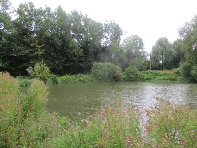 Past a lake
