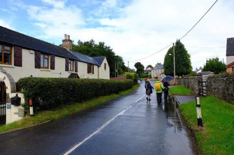 Now enjoying a spot of rain and a short road walk