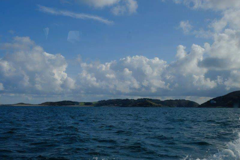 As we sail past Herm