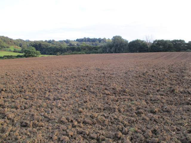 This field has recently been harvested and ploughed