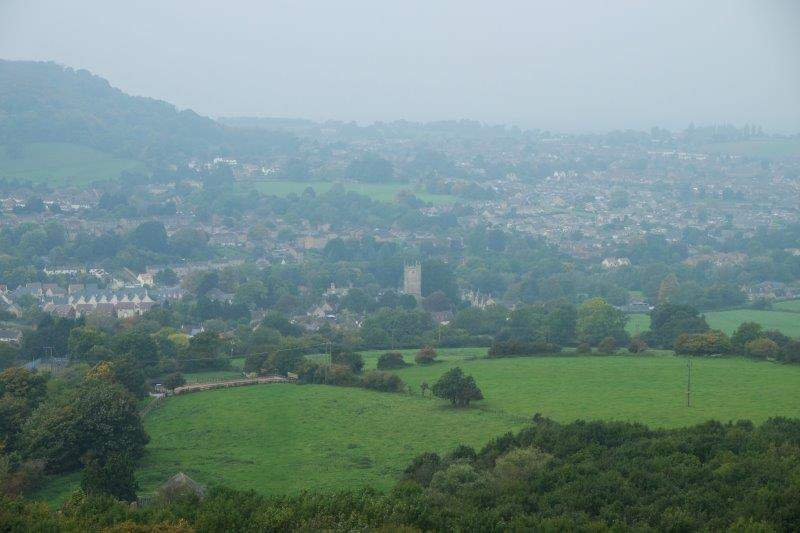 Looking down on a misty Dursley