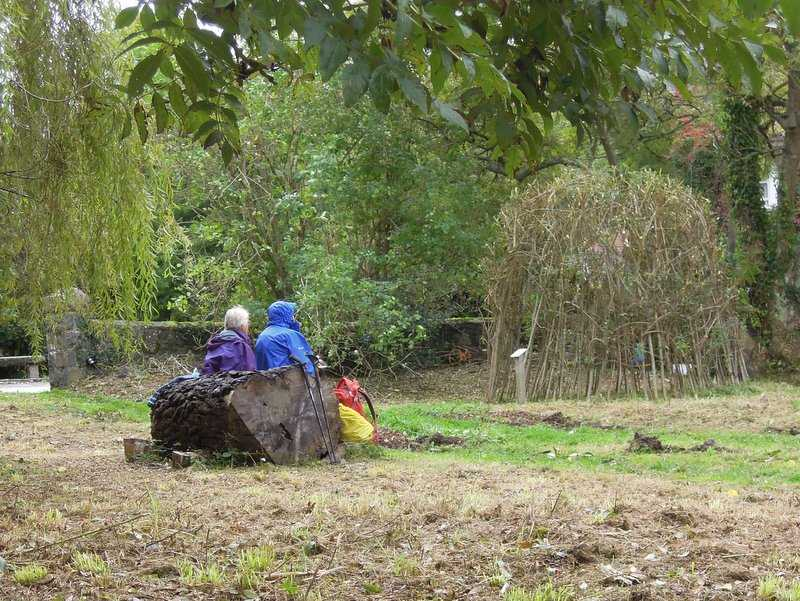 Thursday's inland walk lunch spot near St Saviours