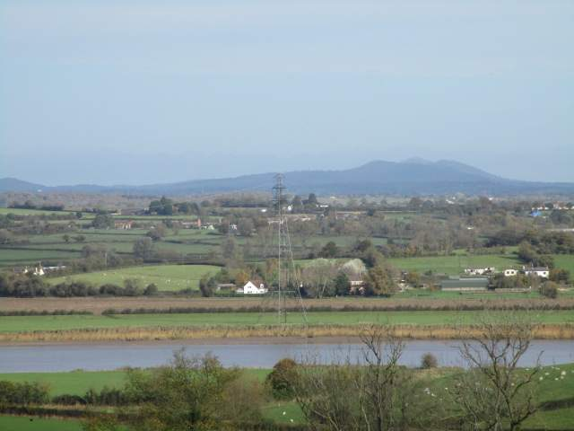 The Malverns in the distance