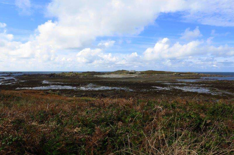 Our first sight of Lihou Island under brightening skies