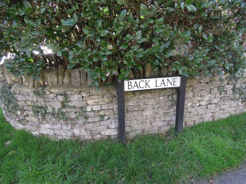 Starting along Back Lane?