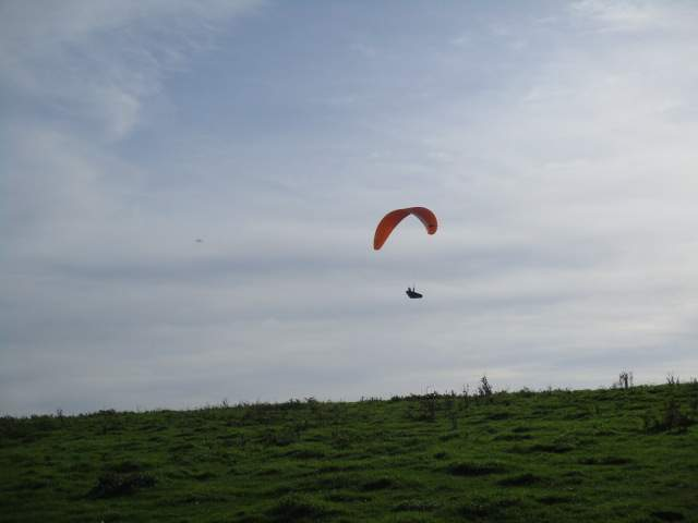And spot an orange hang-glider