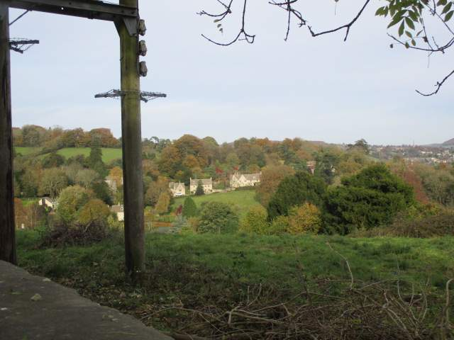Looking down over Pitchcombe