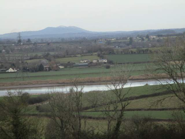 The Malverns in the distance - is that a sprinkling of snow on the top?