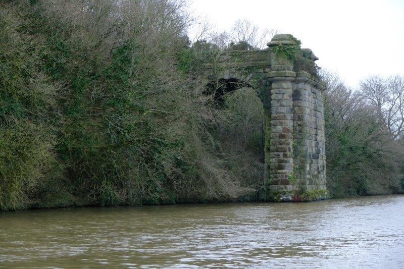 The remains of the old railway bridge