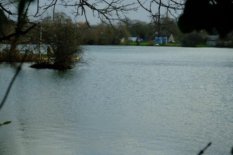 Past a small lake