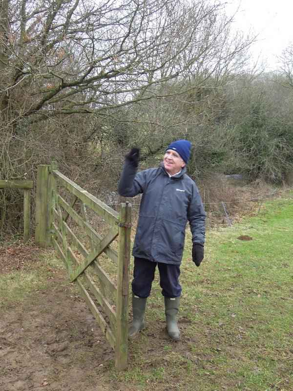 Ray does the honours at the gate